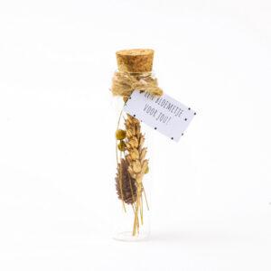 Droogbloem flesje goud